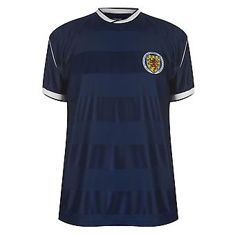 Score Draw Mens Scotland 86 Home Jersey Top Crew Neck