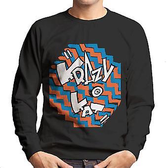Krazy Kat Coloured Zigzag Logo Men's Sweatshirt