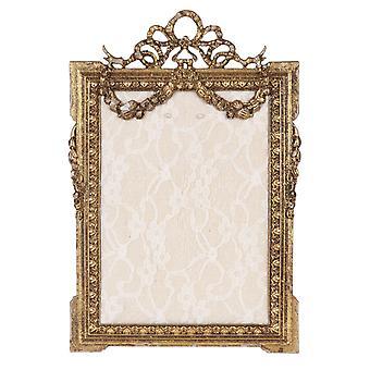 Clayre & amp; Eef romantische gouden sierlijke metalen sieraden staan in shabby vintage stijl ca. 16 x 24 cm