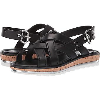 Neuf West Womens Aliyah Leather Open Toe Casual Slingback Sandals