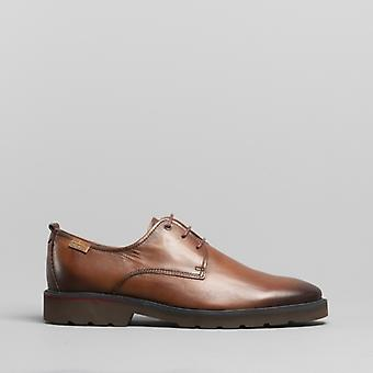 Pikolinos Salou heren lederen Derby schoenen Cuero Tan