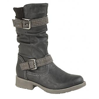 Cipriata Elvea Girls Knee High Boots Black