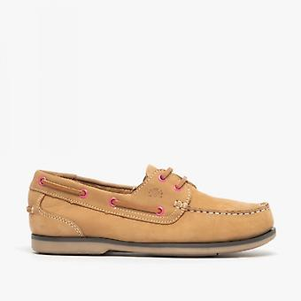 Catesby Shoemakers Pippa Ladies Leather Deck Shoes Tan