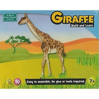 Green Board Games Giraffe Construire et apprendre modèle