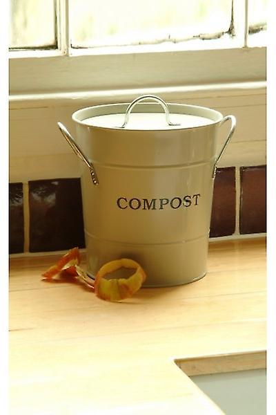 Garden Trading Clay Kitchen Lidded Compost Bucket