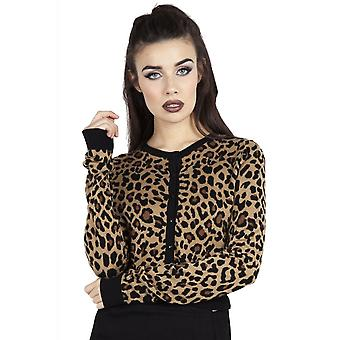Jawbreaker Clothing Change My Spots Cropped Leopard Cardigan