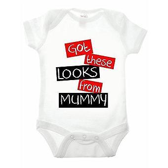 Got these looks from mummy short sleeve babygrow