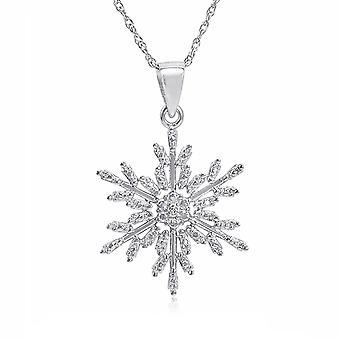 Vincenza secret santa gift, snowflake necklace, message card pendant necklace