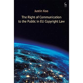Right of Communication to the Public in EU Copyright Law by Justin Koo