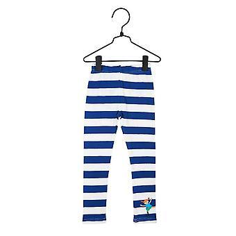Pippi Legginsy z długimi pończochami niebiesko-białe
