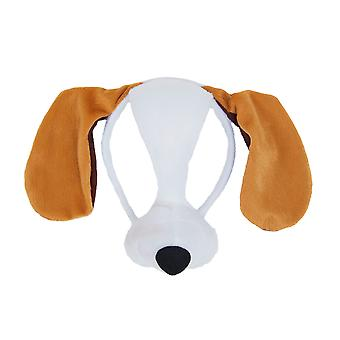 Bristol Novelty Unisex Adults Dog Mask On Headband With Sound