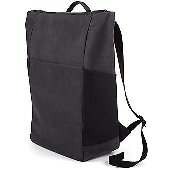 Salzen Sleek Line Nubuk Leather Casual Backpack - 48 cm - 17 liters - Black (Charcoal Black)