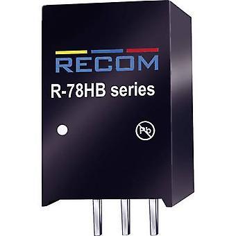 RECOM R-78HB24-0.3 DC/DC converter (print) 72 V DC 24 V DC 0.3 A 7.2 W Nr. av utgångar: 1 x