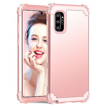 For Samsung Galaxy Note 10+ Plus Case, Protective Multi Layered Cover, Rose gold