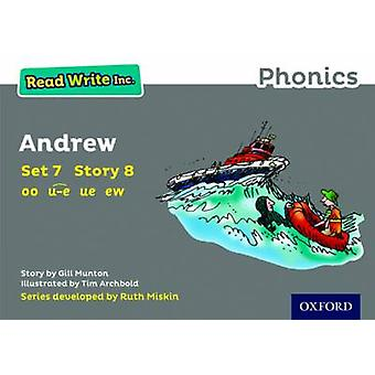 Lire Write Inc. Phonics Grey Set 7 Storybook 8 Andrew par Gill Munton