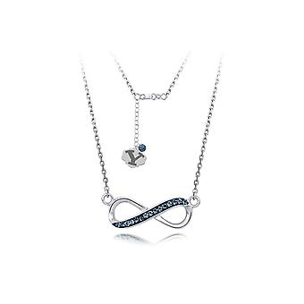 925 Sterling Silver Rhodium Plated Spirit Infinity Necklace Brigham Young University 18 Inch Jewelry Gifts for Women
