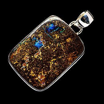 Boulder Opal 925 Sterling Silver Pendant 1 1/2