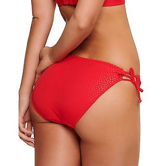LingaDore 5107TSB-236 Women's Eden Red Diamond Print Tie-Side Bikini Bottom