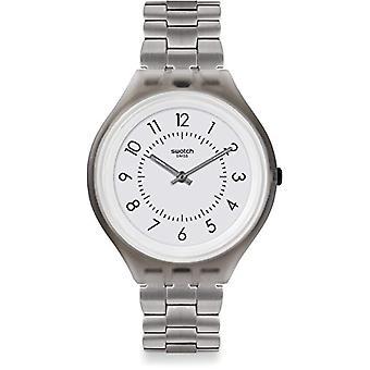 Swatch Unisex Quartz digital klocka med rostfria band SVUM101G