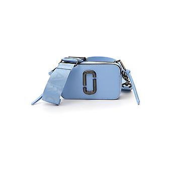 Marc Jacobs M0014867414 Women's Light Blue Leather Shoulder Bag