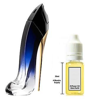 Carolina Herrera Good Girl Pour son parfum inspiré 30ml Recharge Essential Diffuseur Huile Burner Parfum Diffuseur