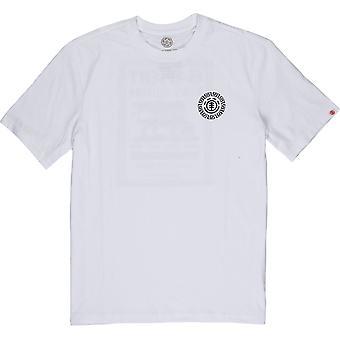 Element Menn's T-skjorte ~ Mat hvit