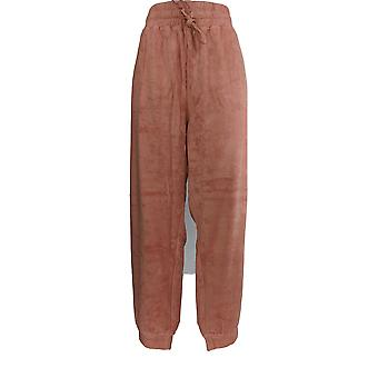 Anybody Women's Lounge Pants Baby Terry Jogger W/ Pockets Pink A310045