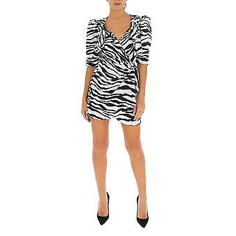 Attico Ats20423520 Damen's Weiß/Schwarz Nylon Kleid