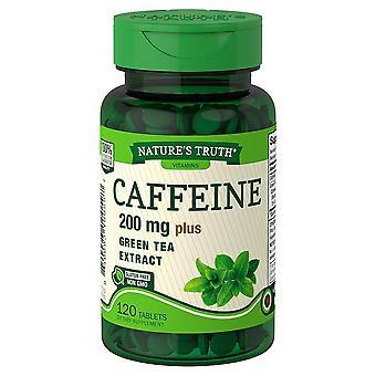 Nature's waarheid cafeïne, 200 mg, plus groene thee extract, tabletten, 120 ea