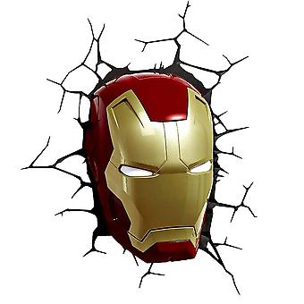 Marvel Iron Man Mask 3D Wall Light