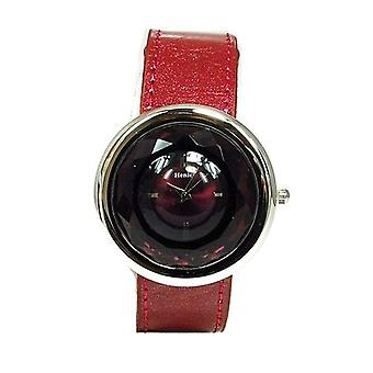 Henley Glamour Plum Multi Faceted Cut Glass Ladies Fashion Watch H06021.10