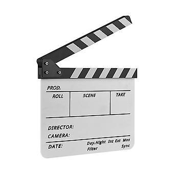 Clapper doska Claps film záznam s Pen-biela & čierna
