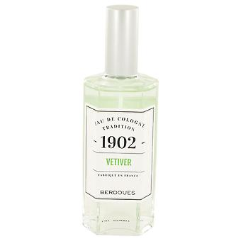1902 vetiver eau de cologne spray (unisex) by berdoues 533292 125 ml