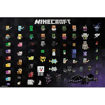 Minecraft Pixel Sprites Maxi Poster