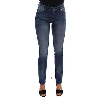 Blue Wash Cotton Stretch Slim Fit Jeans -- PAN6850480