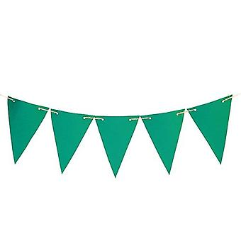 Gardenista® Green 20ft Water Resistant Fabric Bunting