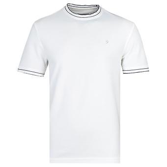 Farah Liverpool Modern Fit Honeycomb Off White T-Shirt