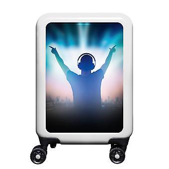 meinTrolley Music DJ S, 4 Rollen, 55 cm, 32  L, Weiß