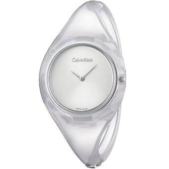 Calvin Klein K4W2MXK6 Reines Silber Zifferblatt Medium Armreif Damenuhr