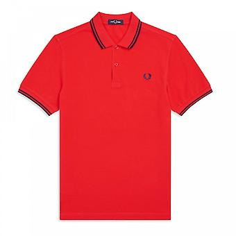 Polo Fred Perry Twin getipt FP Shirt Oranje