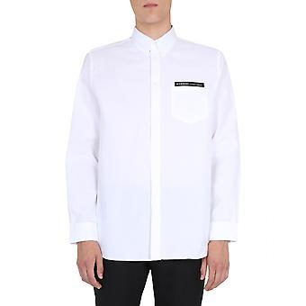 Givenchy Bm60kz12ag100 Men's White Cotton Shirt