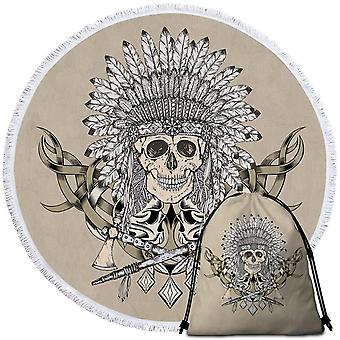 Native American Chief Skull Beach pyyhe