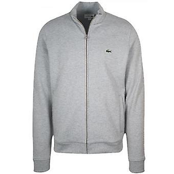 Lacoste Grey Pique Zip Sweatshirt
