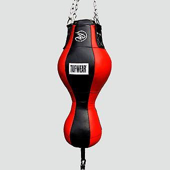 Tuf Wear Leather Uppercut Spring Bag Zwart/Rood
