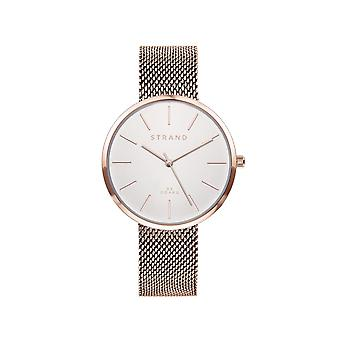 Strand By Obaku S700LXVIMV Sunset-Rose White Dial Wristwatch