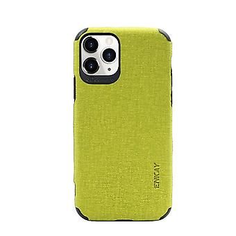 For iPhone 11 Pro Case Fabric Texture Denim Fashionable Protective Cover Green