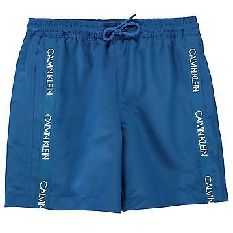 Calvin Klein Kids Tape Swim Shorts Bottoms Elasticated Waistband Swimwear