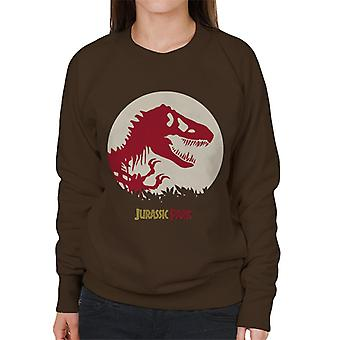 Jurassic Park rood silhouet vrouwen ' s Sweatshirt
