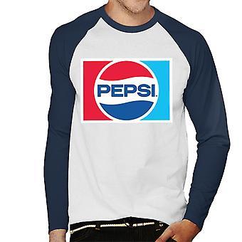 Pepsi 1984 retro logo mannen honkbal lange mouwen T-shirt