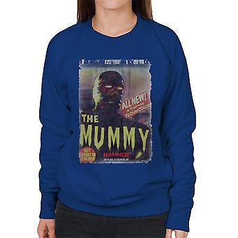 Hammer The Mummy 1959 Film Poster Women's Sweatshirt
